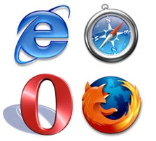 The four browser logos