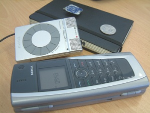 mobile phone and laptop